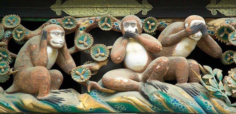 les trois singes art litt rature et spiritualit. Black Bedroom Furniture Sets. Home Design Ideas