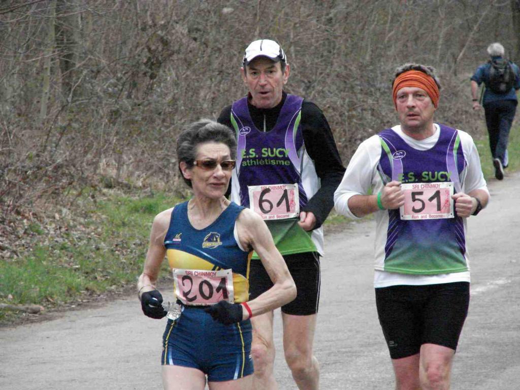 Un moment du Marathon du SCMT Paris au Bois de Vincennes le 18 mars