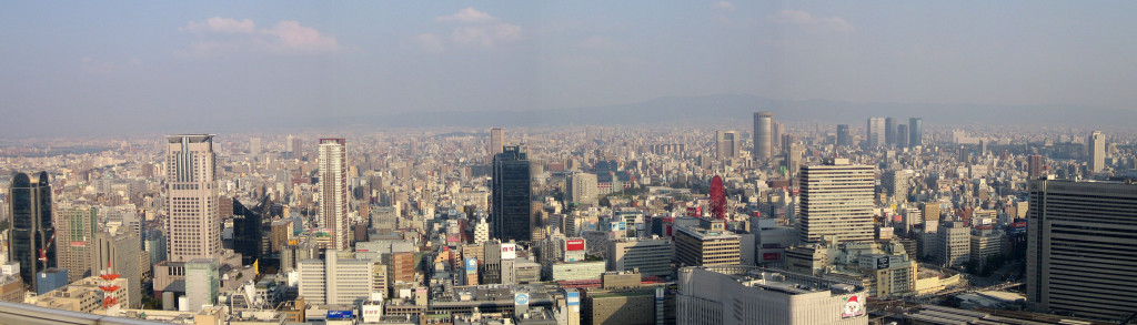Panorama de la ville de Ōsaka effectué en 2006